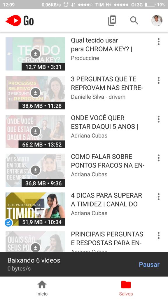 Aplicativo Youtube Go